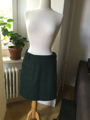 Anna Field Wraparound Skirt forest green
