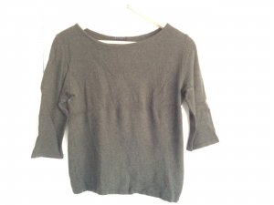 Knitted Top dark green mixture fibre