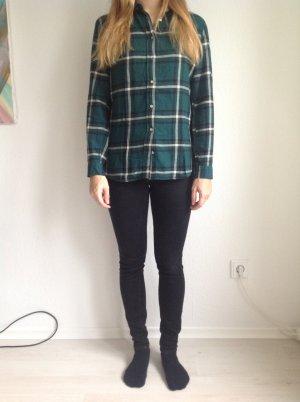 Dunkelgrünes Carohemd H&M
