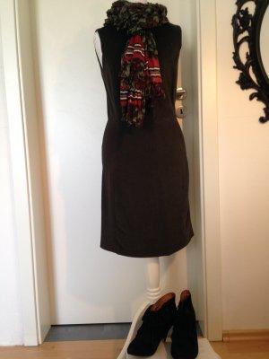 dunkelgrünes Etui-Kleid, Stretchanteil, Größe S