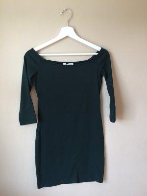 Dunkelgrünes, figurbetontes Kleid