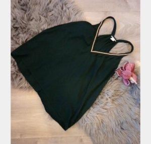 H&M V-hals shirt bos Groen
