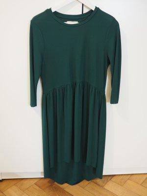 Dunkelgrünes kurzes Vokuhila Kleid in Größe M von Zara