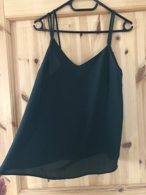 Asos Spaghetti Strap Top dark green