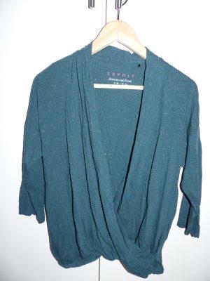 Esprit Wraparound Shirt forest green cotton