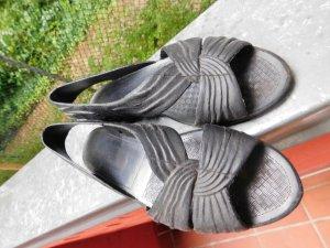 Dunkellblaue Bade Schuhe Sandalen