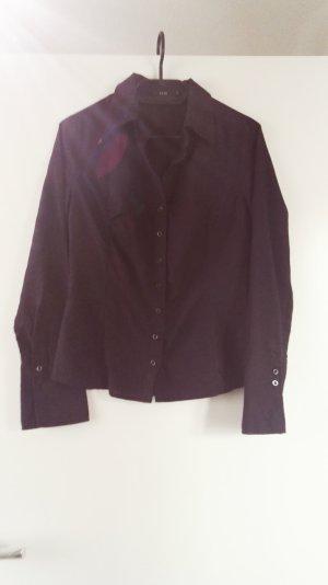 Dunkellilane Bluse aus Baumwolle