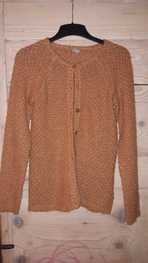 Dunkelorange Strickjacke