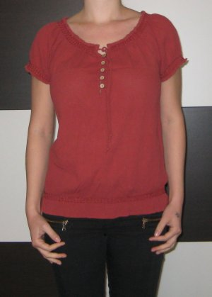Only Slip-over Blouse brick red