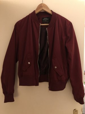 Bershka Bomber Jacket bordeaux-dark red