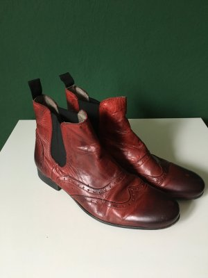 Dunkelrote Buffalo Chelsea Boots