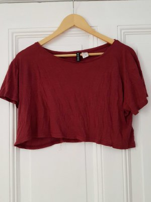 Dunkelrote Crop-Shirt