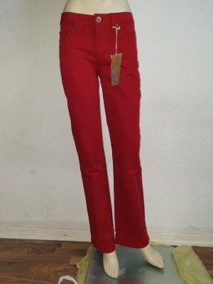 AJC Drainpipe Trousers dark red