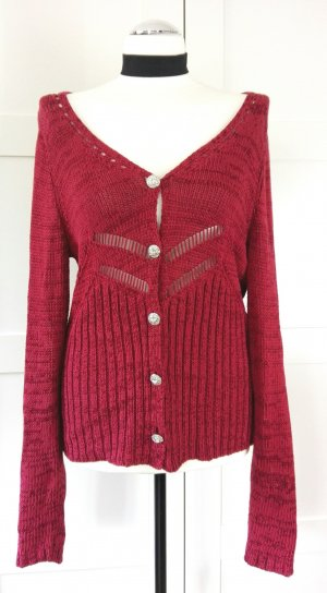 dunkelrote, edle Strickjacke von Ashley Brooke
