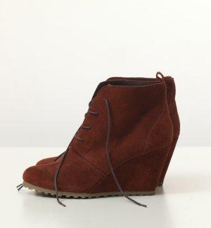 Dunkelrote Leder-Wedges in 41 mit Keilabsatz (Urban Outfitters)