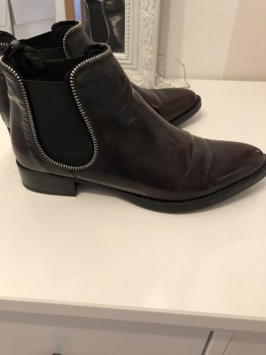 Freeflex Chelsea Boots dark red leather