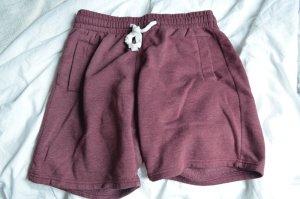 Dunkelrote Männer-Sweatshorts (L)