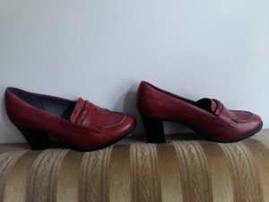 5th Avenue Loafers donkerrood Leer