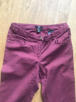 H&M Tube jeans bordeaux