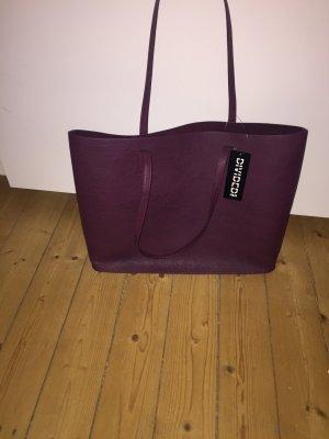 Dunkelrote Tasche/Shopper von H&M