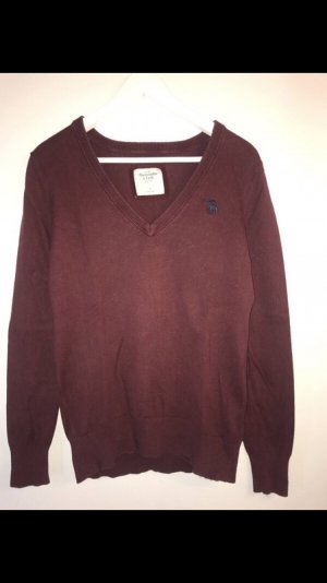 Dunkelroter Abercrombie Pullover