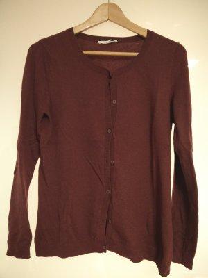 Dunkelroter Esprit-Cardigan mit Wolle