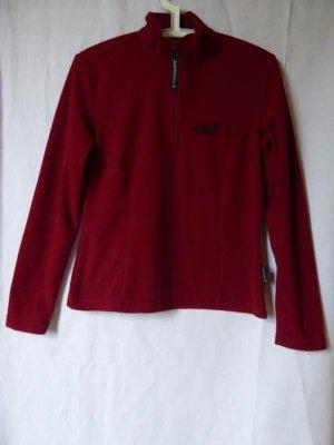 Dunkelroter Fleece-Pullover von Jack Wolfskin