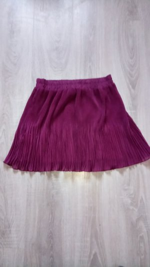 Pleated Skirt purple polyester
