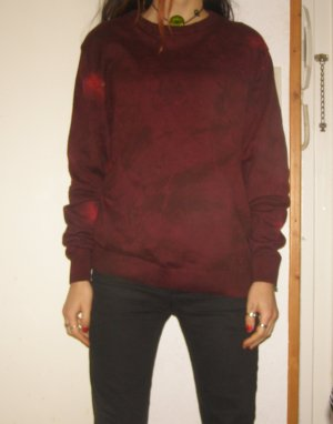 dunkelroter Pullover S/M