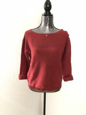 Dunkelroter Pullover von GStar mit Knöpfen