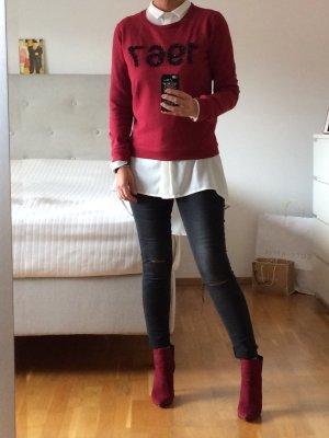 Dunkelroter Sweater von Maison Scotch