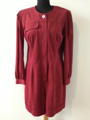 Dunkelroter Vintage Jumpsuit, Gr. 38