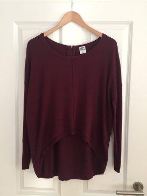 Dunkelroter Vokuhila-Pullover von Vero Moda, Gr. XS
