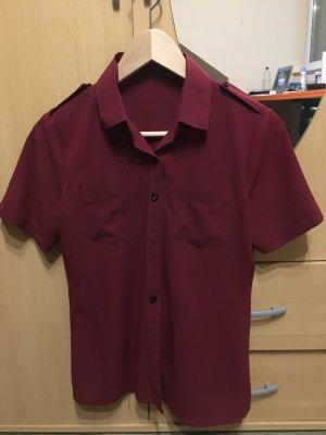 Shirt met korte mouwen karmijn