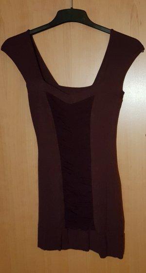 Clockhouse Vestido de tubo burdeos-rojo zarzamora