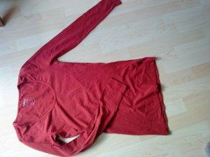 dunkelrotes Langarmshirt von Only in M