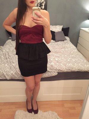 Rare london Peplum jurk veelkleurig