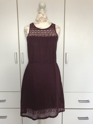 H&M Vestido playero burdeos