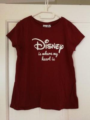 dunkelrotes T-Shirt mit Disney-Aufdruck von Disney