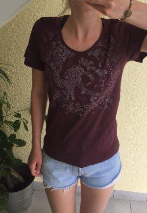 dunkelrotes T-Shirt von Diesel