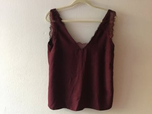 Asos Rugloze top bordeaux