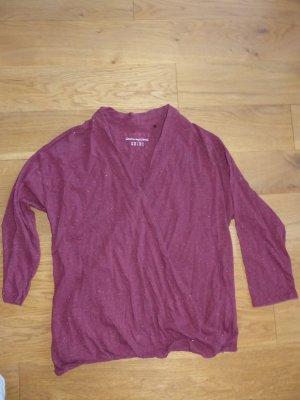 Esprit Wraparound Shirt dark red cotton