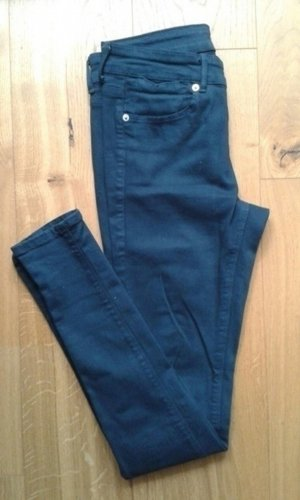 Dunkeltürkise / tannengrüne Skinny Hose