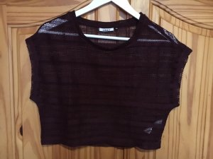 Dunkelviolett Crop Top