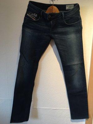 Diesel Jeans taille basse bleu foncé-bleu