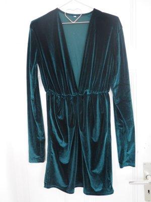 dunkle grün satin/velvet dress