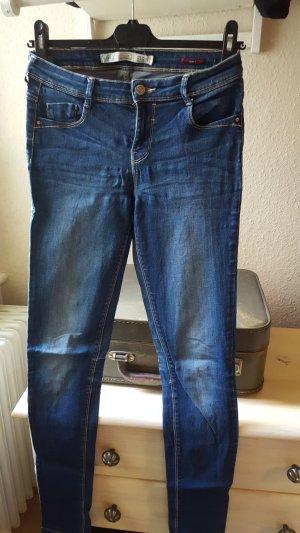 Zara Pantalon bleu-bleu foncé