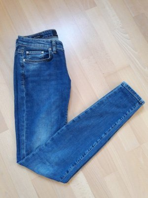 LTB Jeans cigarette bleu-bleu acier coton