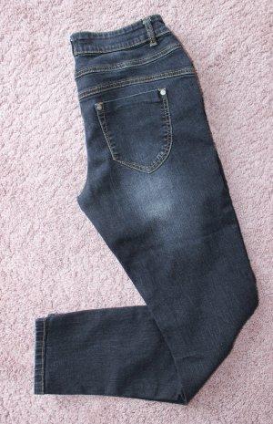 Patrizia Dini Pantalón de tubo azul oscuro-negro