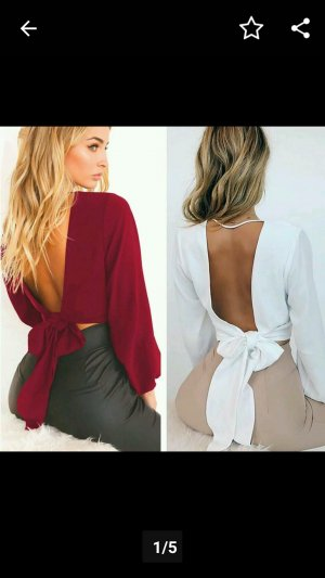 Basic topje bordeaux
